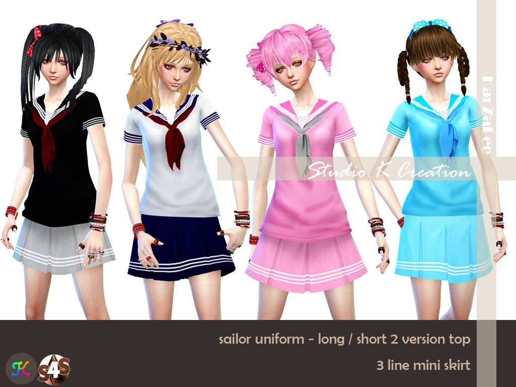 Sims 4 mods traits downloads 187 sims 4 updates 187 page 58 of 100 - Studio K Creation Sims 4 Studio Sailor Uniform For Female