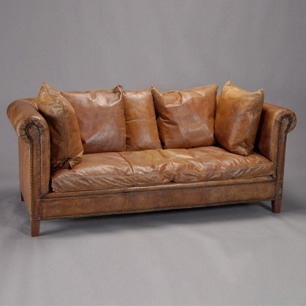 Lot 199 Ralph Lauren Brown Leather Sofa Lot Number 0199