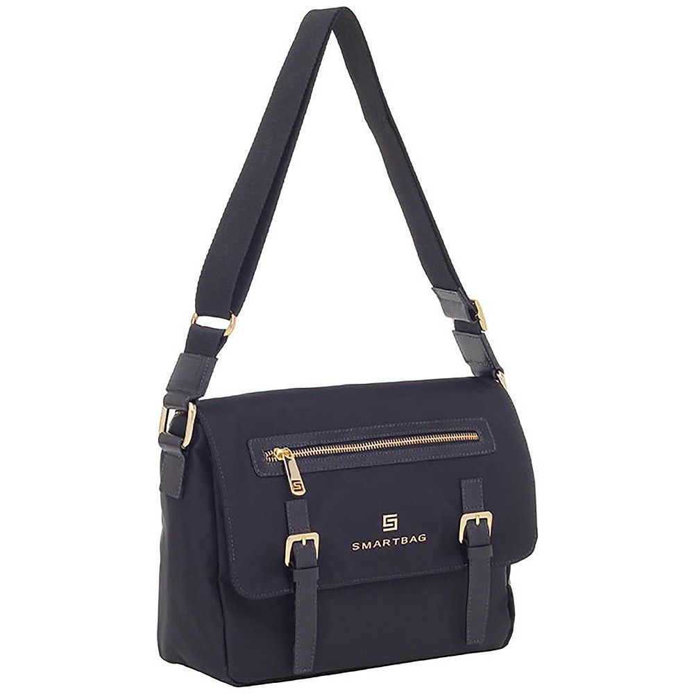 ddeced5d0 Bolsa Smartbag Transversal Nylon Couro Preto - 88033.17 - Smartbag ...