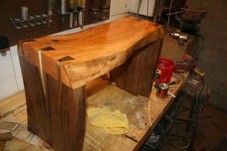 Como hacer un banco de madera de nogal esculpido cosas que quiero - como hacer bancas de madera para jardin