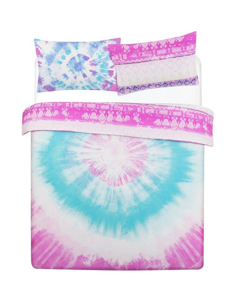 Neon Tie Dye Kingsize Duvet Cover Cute Duvet Covers Bed Linens Luxury Cool Beds