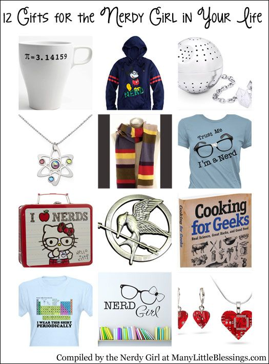 12 Gifts For The Nerdy Girl In Your Life Nerd Gifts Diy