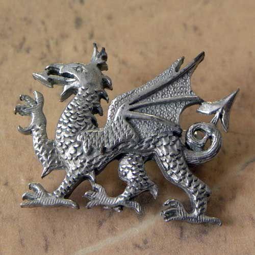 Welsh Dragon Head  Belt Buckle mystical beast