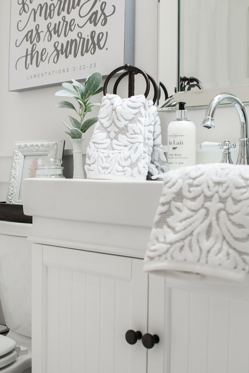 Photo of Our White-On-White guest bathroom Makeover | Mother without labels