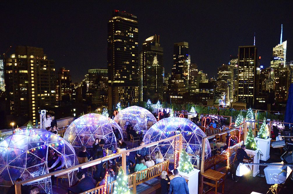 230 Fifth Rooftop Bar Views Winter Igloos Rooftop Bars Nyc