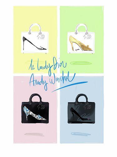 Dior + Andy Warhol F/W 13-14 limited edition.  Open Toe, fashion illustrated http://opentoemag.wordpress.com/2013/10/15/the-warhol-handbag/