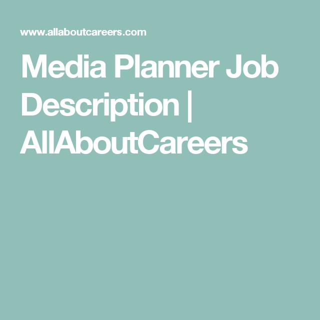Media Planner Job Description   Media Planner Job Description Allaboutcareers Media Profession