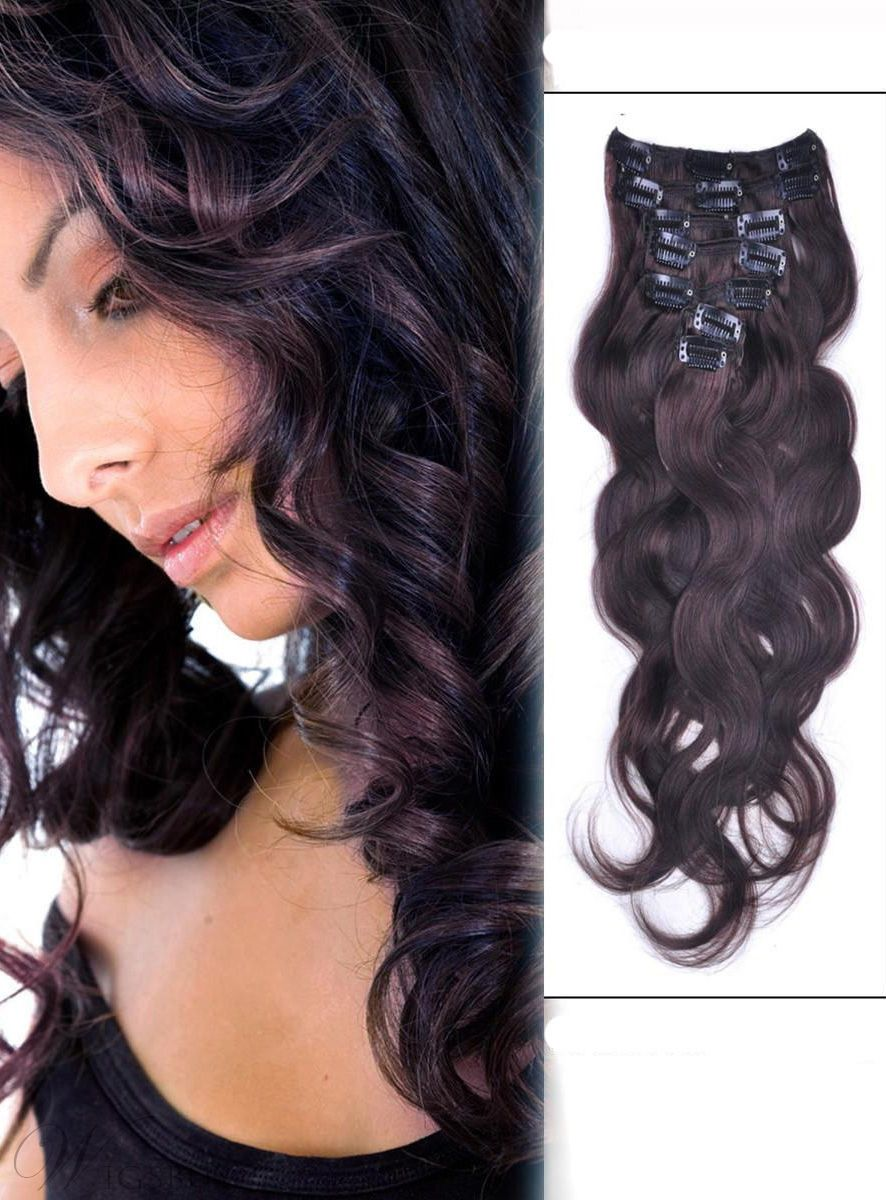 7 Piece Body Wave Clip In Indian Human Hair Extension Hair
