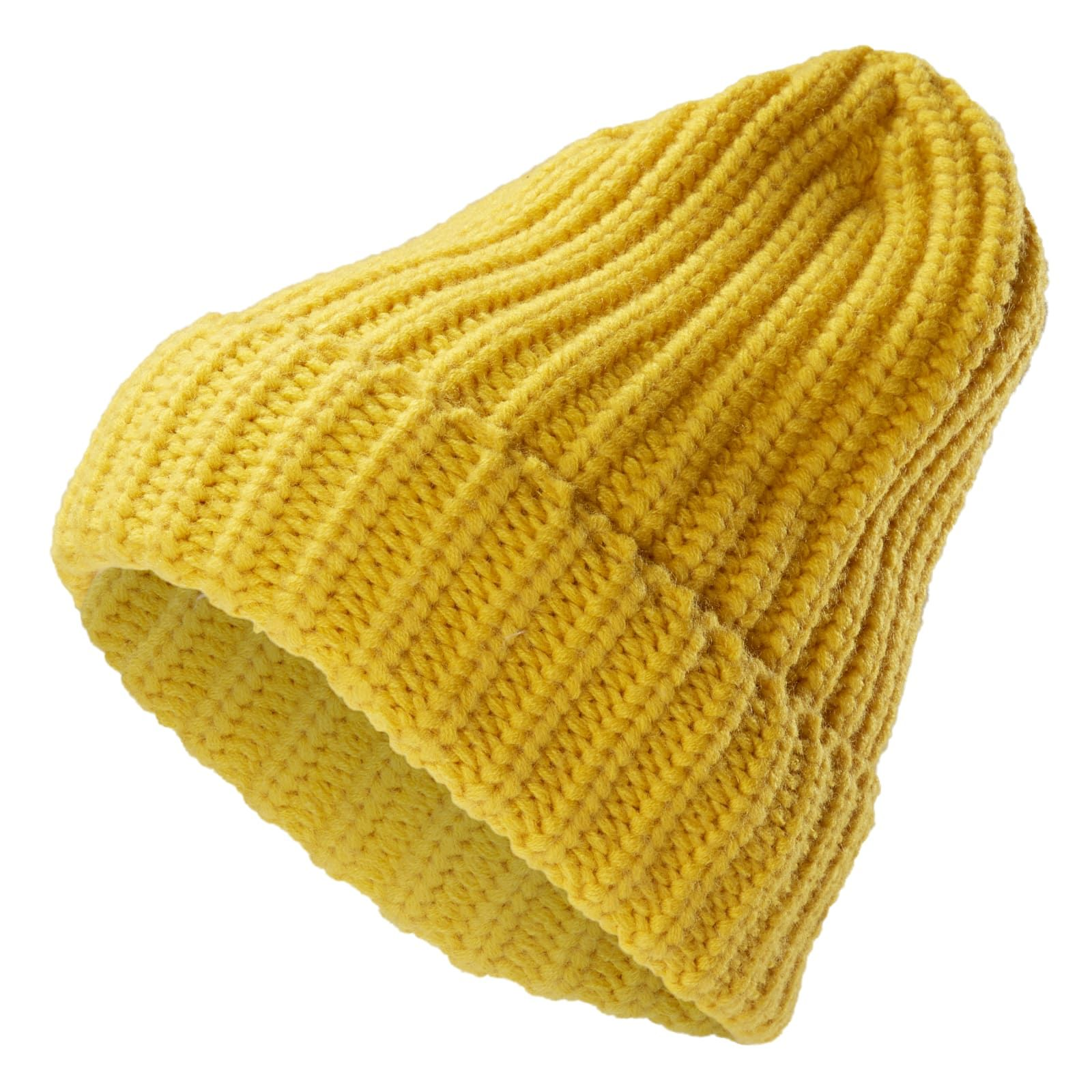 Photo of Fee Yellow Chunky Knit Montagna Beanie  | In stock! | Fawler