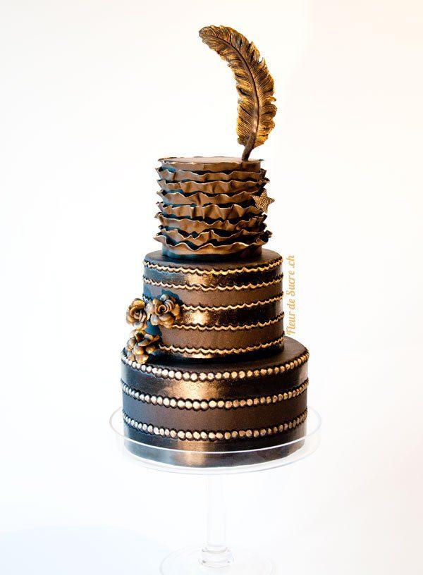 Schwarz Gold Hochzeitstorte Wedding Cake Black Cakes Chocolate