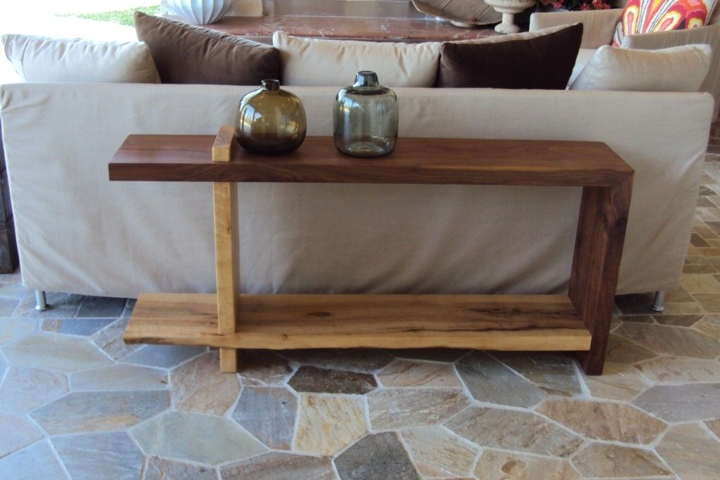 sofa table made from walnut and birdseye maple decorating ideas rh pinterest com