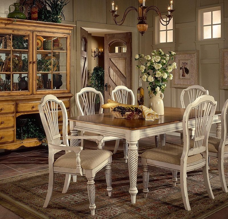 Classic Rectangle Wooden Dining Table Set table