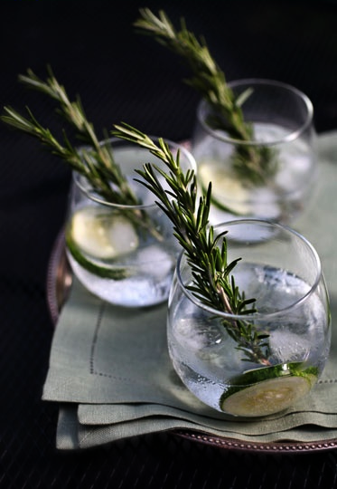 eten-en-drinken: • Cucumber Rosemary Gin & Tonic •
