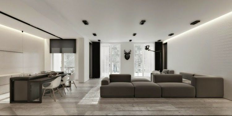 Techos modernos con luces led integradas 50 ideas above the head ceiling techo moderno - Disenos de salones modernos ...