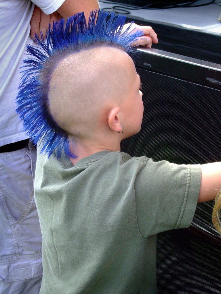 Young apprentice with blue mohawk in 2020 | Boy hairstyles, Mohawk hairstyles men, Little boy ...