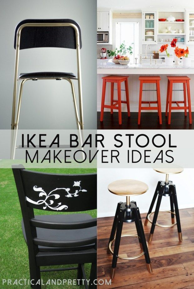 I put together a few ideas of how you can makeover an IKEA bar stool