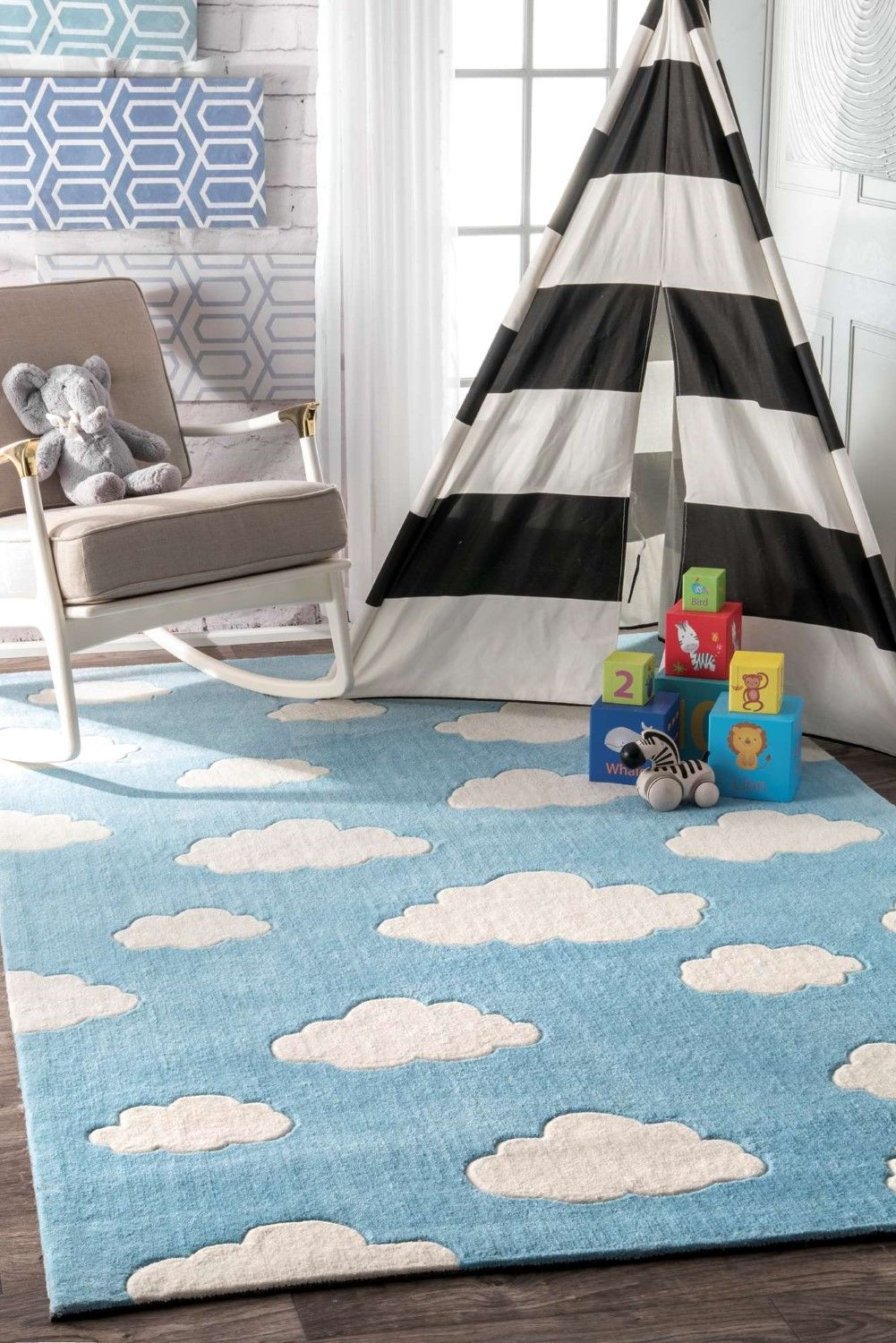 cloudy sachiko blue area rug size 3 6 x 5 6 dramatic play rh pinterest com