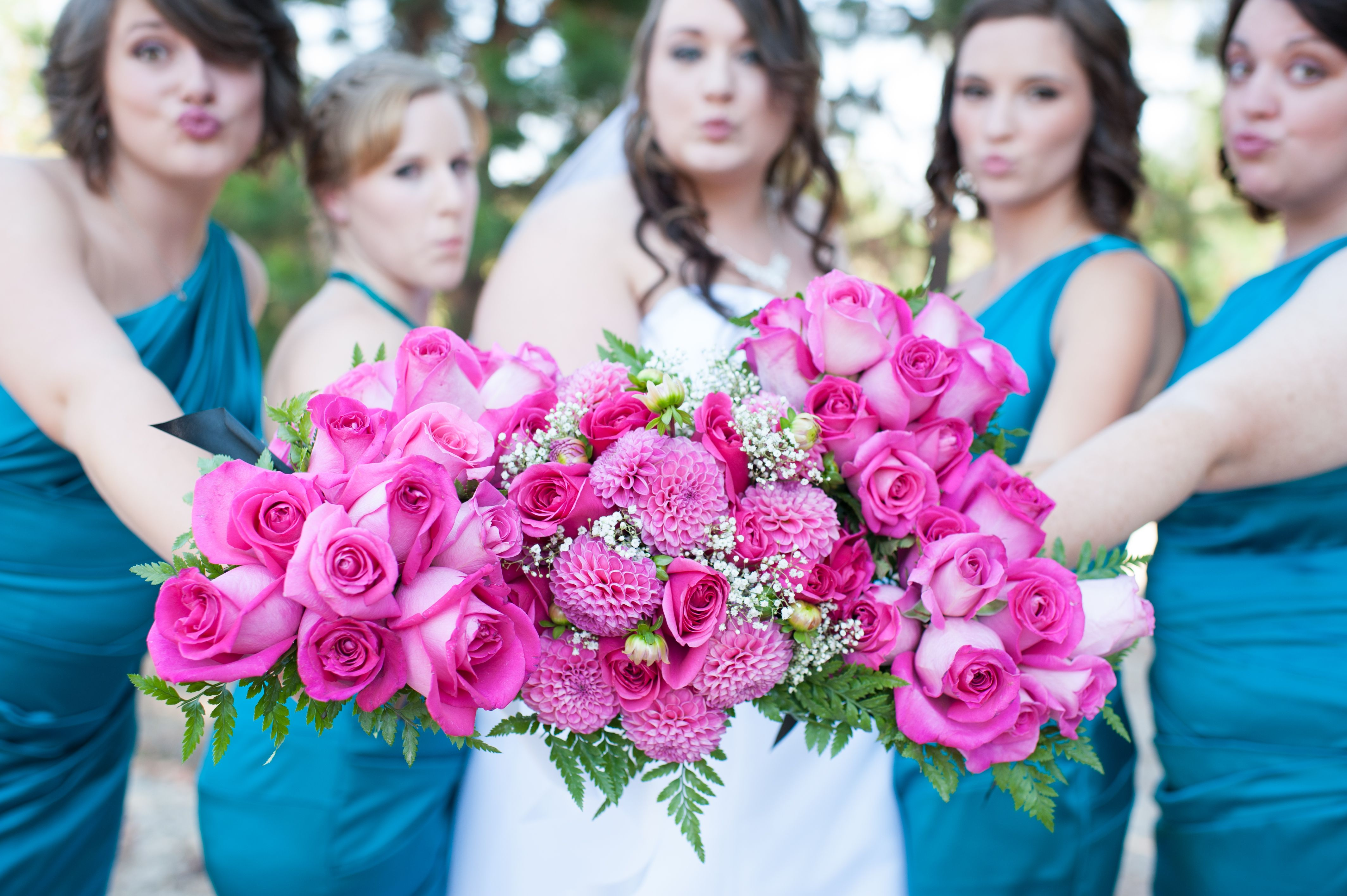 Teal Davidu0027s Bridal Oasis and hot pink