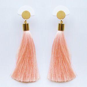Image of GLORIA TASSELS Earrings<br>Peach