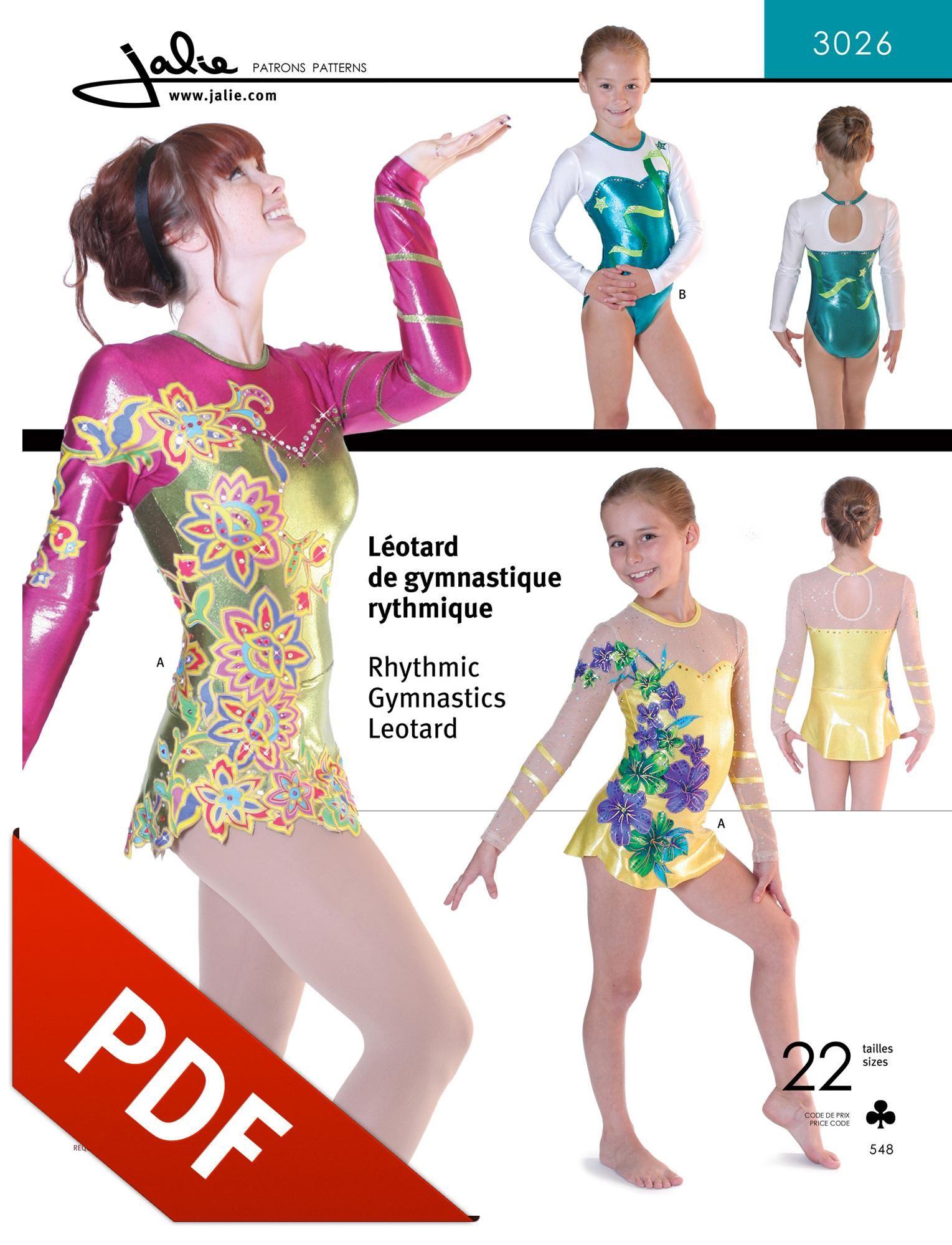 3026 - Rhythmic Gymnastics Leotards in PDF format | PDF Patterns ...