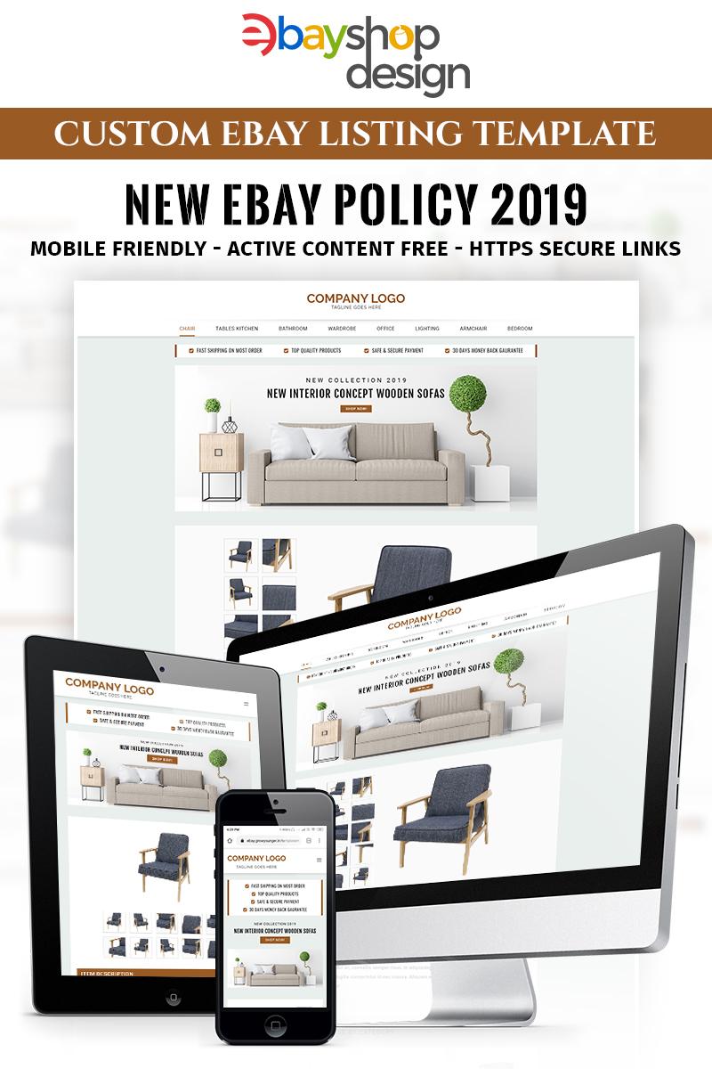 Furniture Listing Design V1 Ebay Template Ebay Templates Ebay Store Design Web Design Software