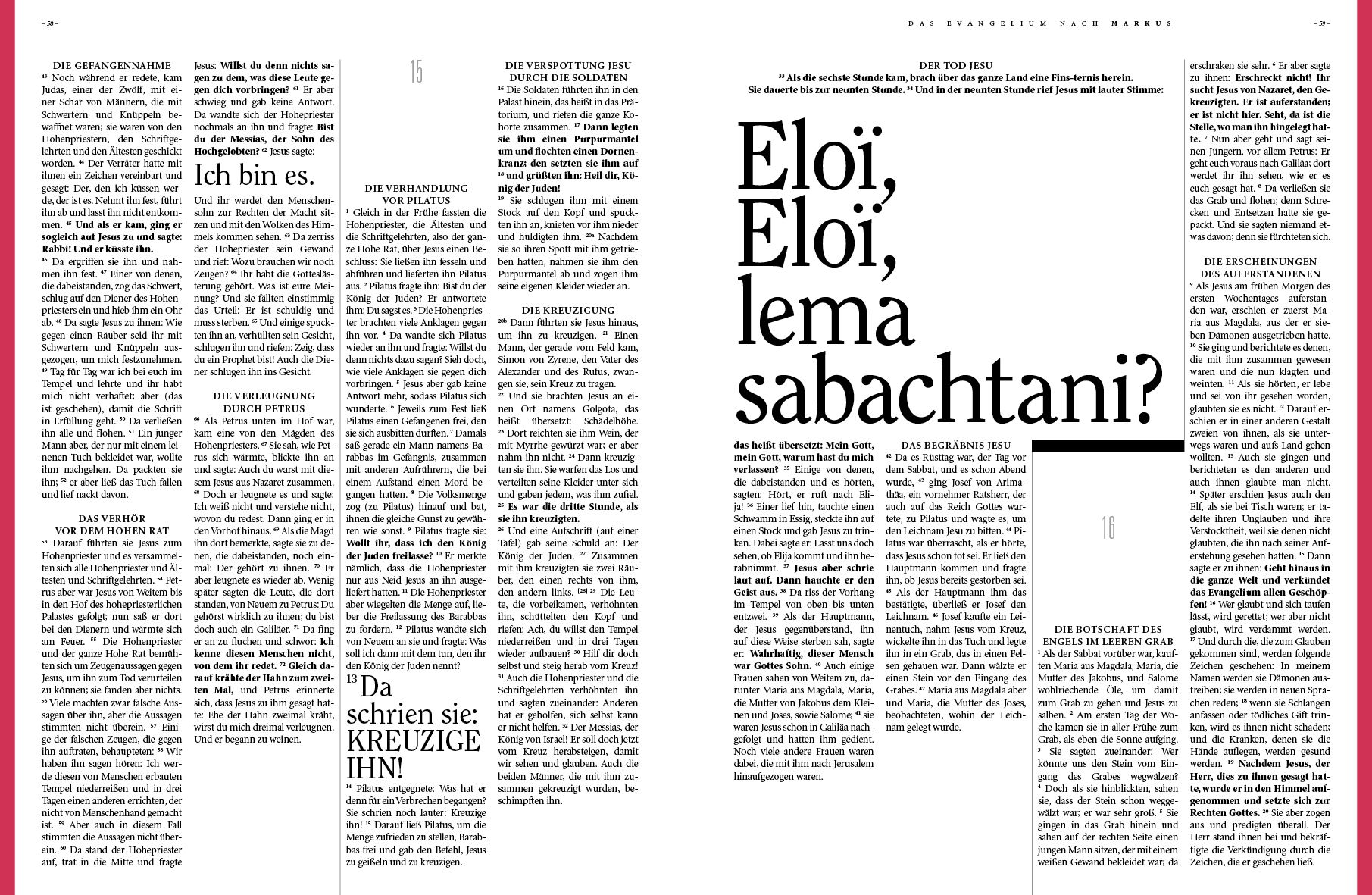 www.bibelalsmagazin.de / Lesbares, aufgeräumtes Design. Das Neue Testament als Magazin / german; Einheitsübersetzung / Bibel / Design / bible Super geeignet als Geschenk €9,20