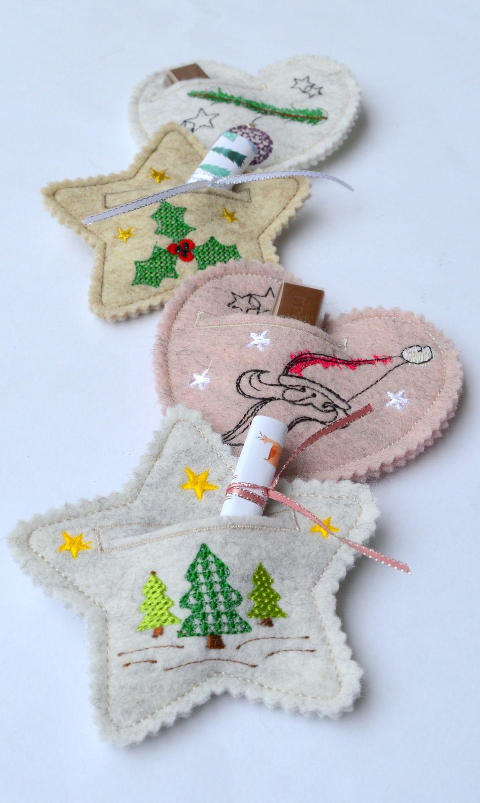 Photo of Stickerei Design Weihnachtsanhänger für Geldgeschenke