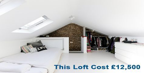 Low cost loft garage attic rooms pinterest garage for How much to build a garage with loft