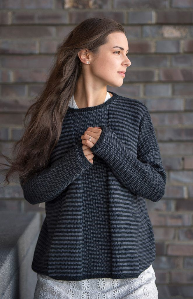 Photo of Striped sweater from origin 100% Tasmanian merino extra fine #Knitted …