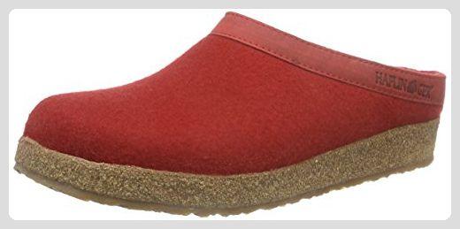 Haflinger Torben, Unisex-Erwachsene Pantoffeln, Rot (Rubin 11), 39 EU