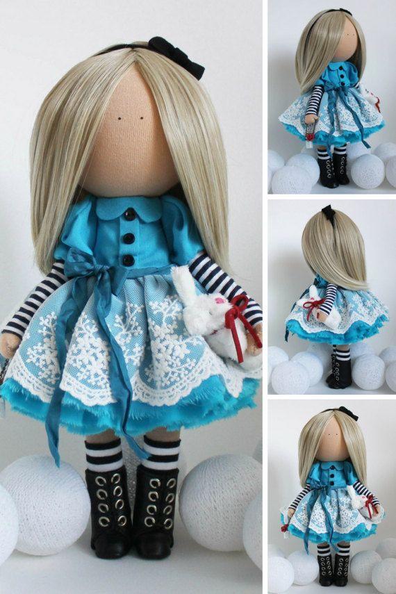 Rag doll Portrait doll Bambole Fabric doll by AnnKirillartPlace