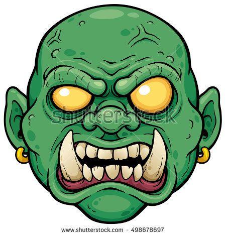 42f42ca634051 Vector illustration of Cartoon Zombie face | Cartoon Design | Zombie ...