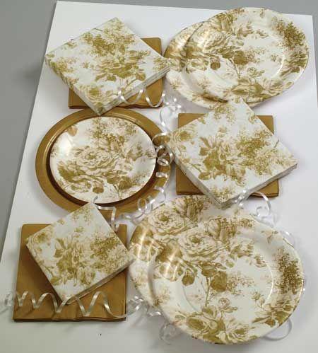 50th anniversary party ideas | Anniversary Ideas - Golden Roses Party Tableware & 50th anniversary party ideas | Anniversary Ideas - Golden Roses ...