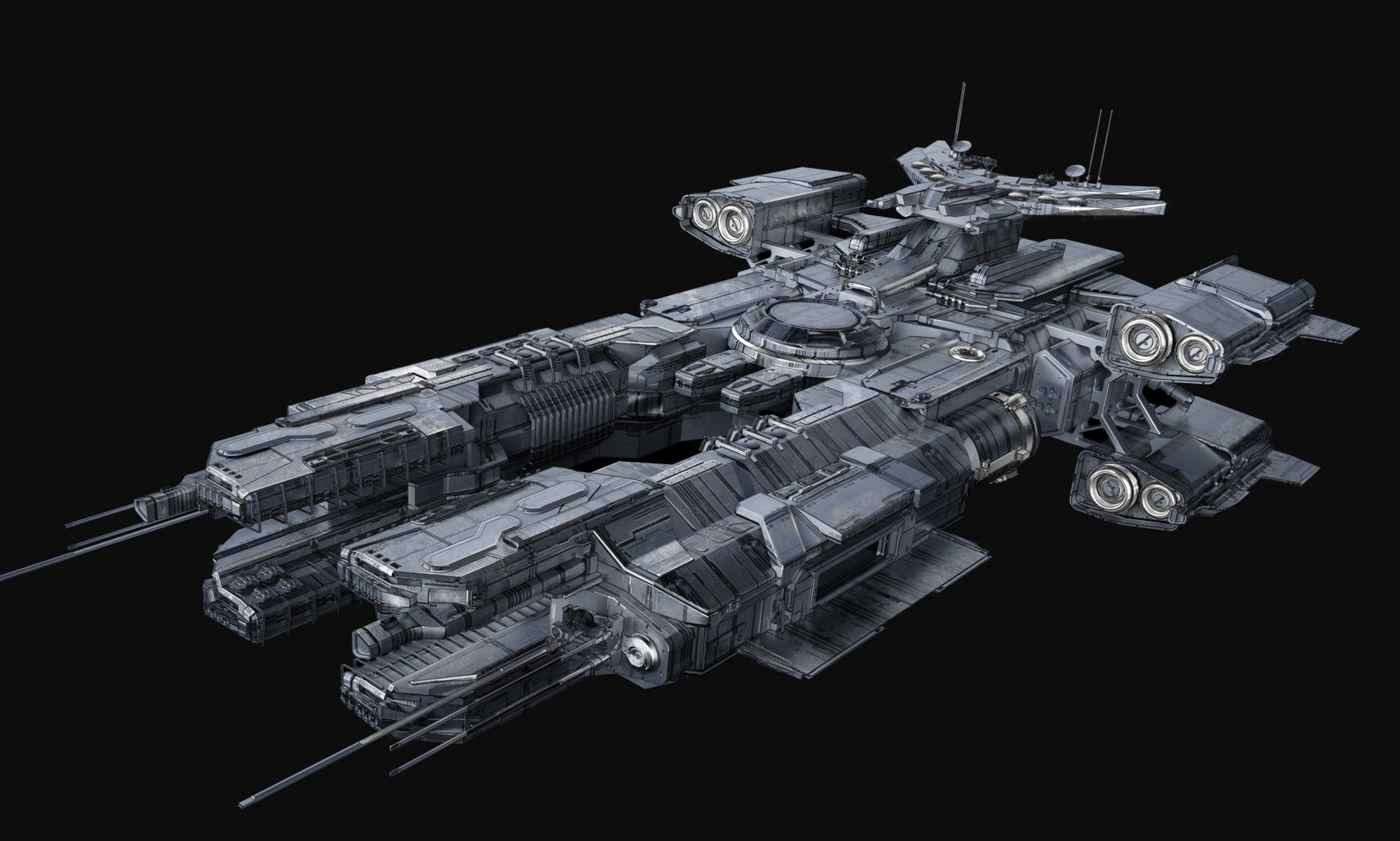 The Federal Corvette Is A Ship I Modeled While Working On