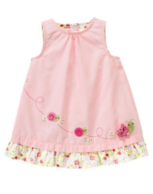 3de3f6158 Vintage Gymboree Baby Girl Mini Blooms Pink Snail 2012 Dress ...