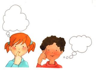 Resultado de imagen de niños pensando