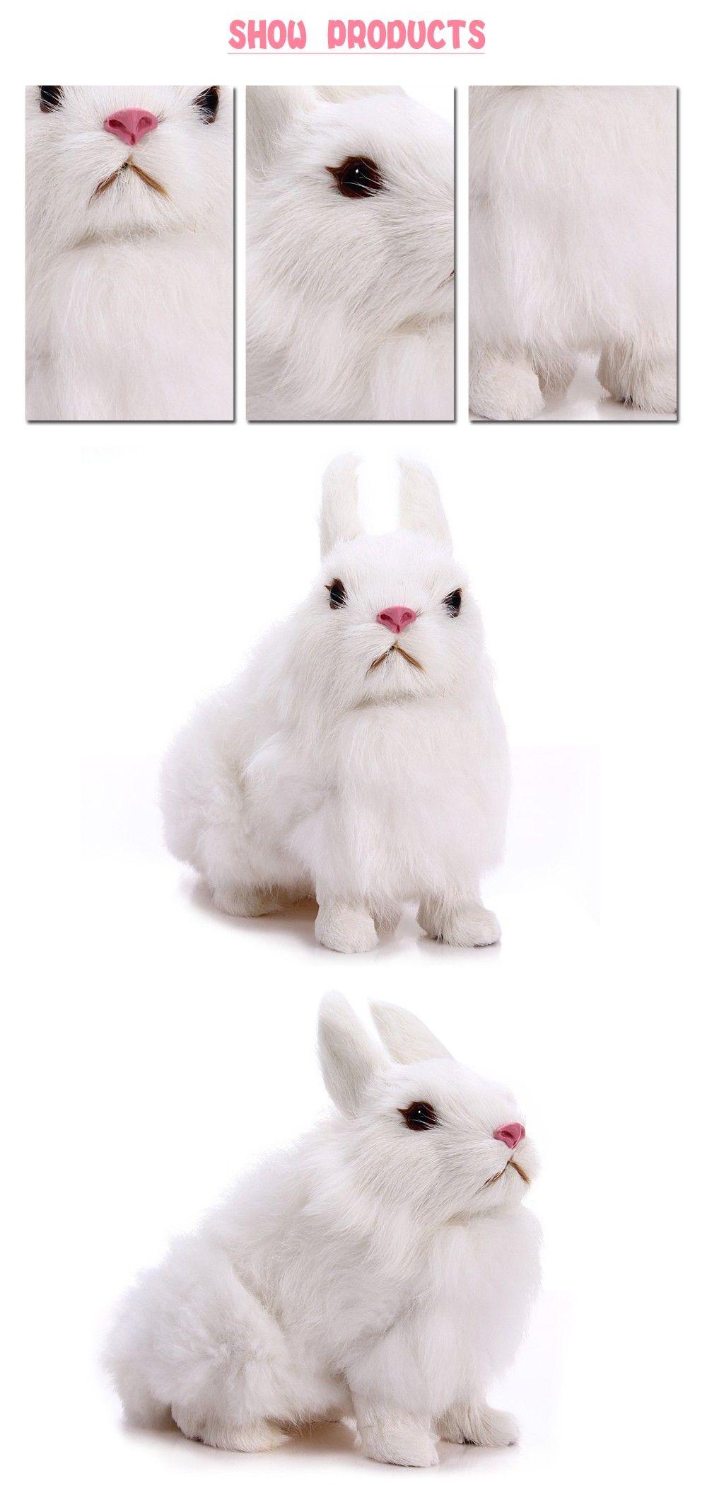 Niedlichen Tier Osterhase Simulation Pelzigen Hocken Kaninchen ...
