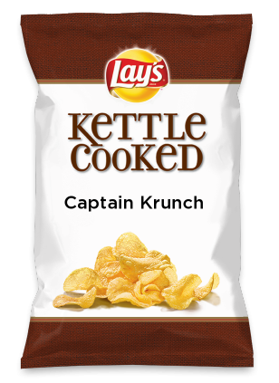Wouldn't Captain Krunch be yummy as a chip? Lay's Do Us A Flavor is back, and the search is on for the yummiest flavor idea. Create a flavor, choose a chip and you could win $1 million! https://www.dousaflavor.com See Rules.