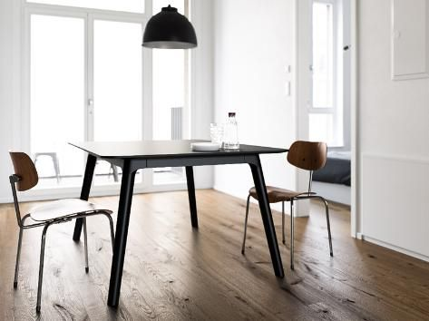 Küchentisch in schwarz aus Laminat, 110x75x155cm. Tisch von Tylko ...