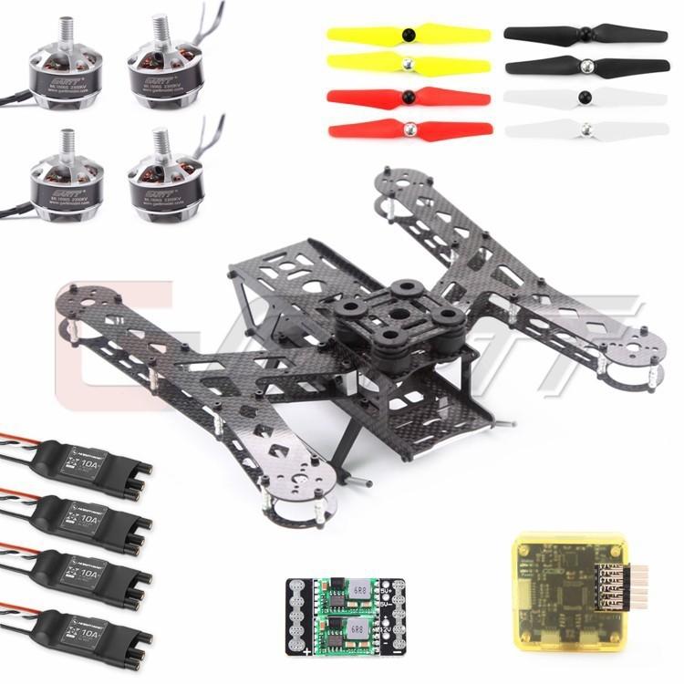 128.80$  Watch now - http://alih2s.worldwells.pw/go.php?t=32392939302 - GARTT PLUTO-X2.5 Interstellar 250 Carbon Fiber Mini 250 FPV Quadcopter Frame COMBO