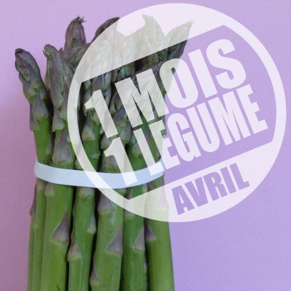 1 mois 1 légume - Avril = Asperge