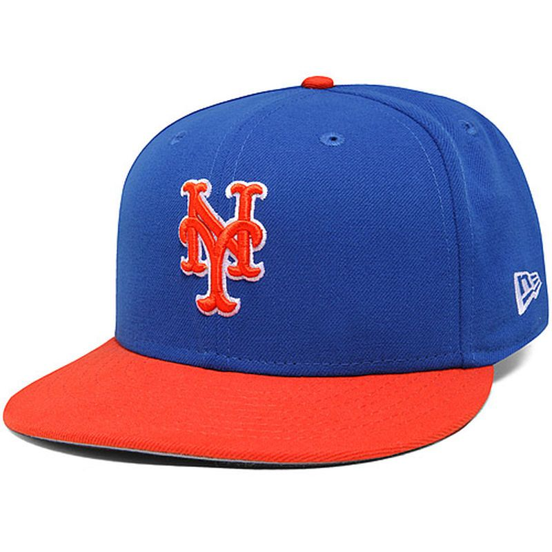e0b80736c06 New York Mets New Era 2-Tone Basic 59FIFTY Fitted Hat - Blue Orange ...