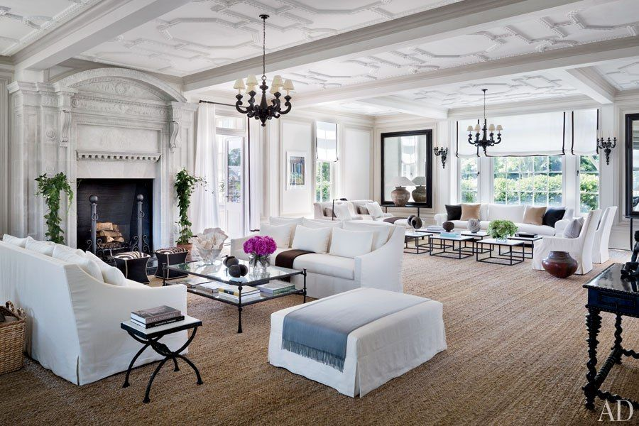 See How Vince Camuto Restored His Jazz Age Manor In The Hamptons Beautiful Living Rooms Villa Maria Home