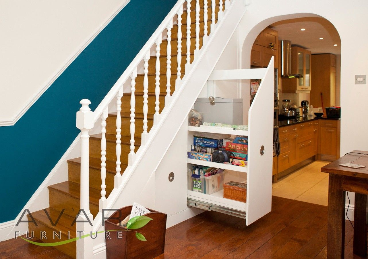 Under stairs furniture last fiited drawer opening from for Under stairs drawers plans