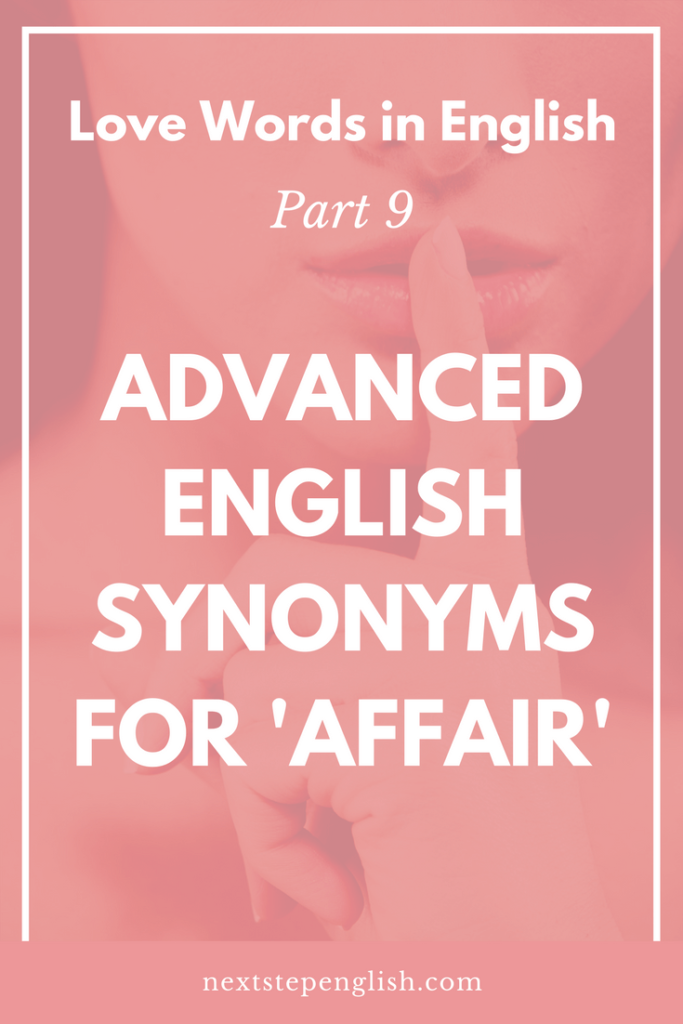 Love Words In English Part  Affair Synonyms In English English Vocabulary Infographic