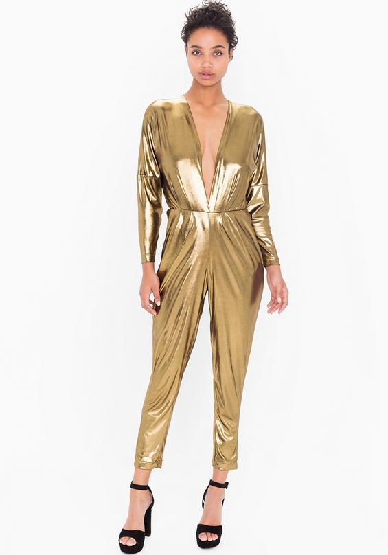 f677639254d Madeline Gold Metallic Jumpsuit