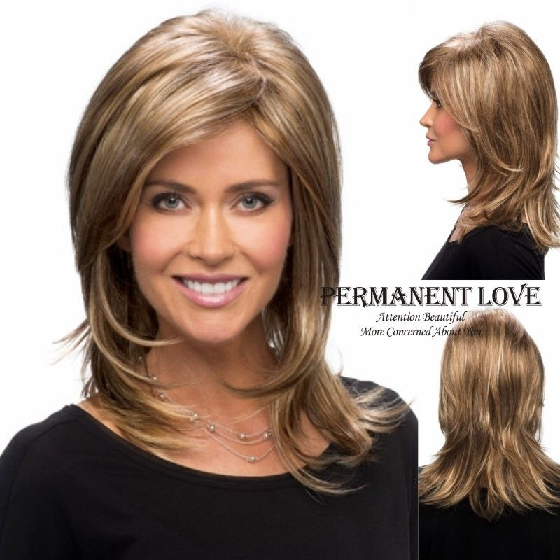 layered haircuts for medium hair with side bangs