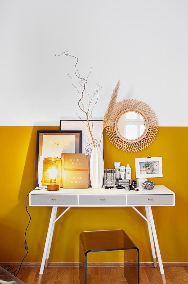 Marie Nasemann So sieht ihr Zuhause aus! Interior Design - wohnzimmer gelb streichen