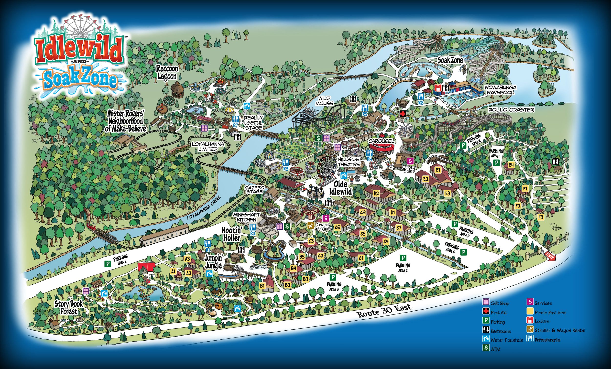 Park Map Idlewild and SoakZone Park