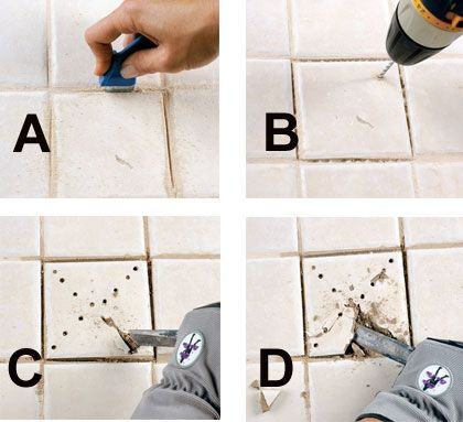 Replace A Cracked Tile Doityourself Com Tile Renovation Tile Removal Decorating Stairway Walls